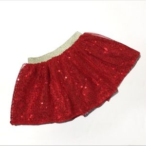 Cat and Jack Red Sequin Skirt